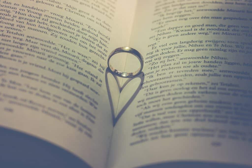 Wedding ring in book during Divorce proceedings