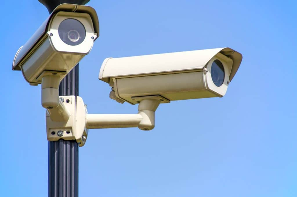 Cameras used for a company to spy on employee