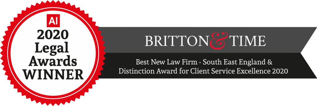 An award that our Solicitors in Brighton and Hove received from the AI Legal Awards.