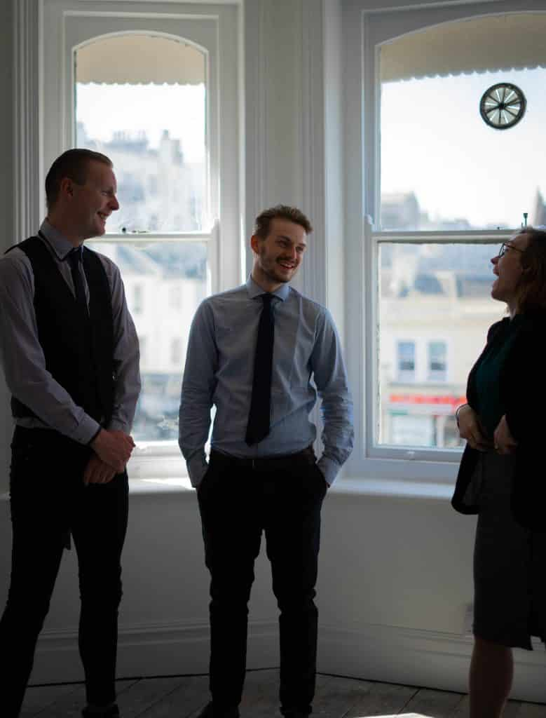 Our solicitors in Brighton and Hove engaging in regular communication
