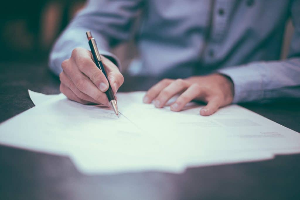 Professional completing a contractual duty of care